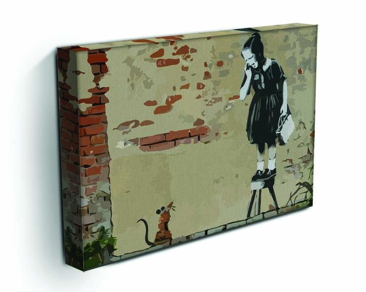 Banksy School Girl Mouse Canvas Print or Poster - Canvas Art Rocks - 3