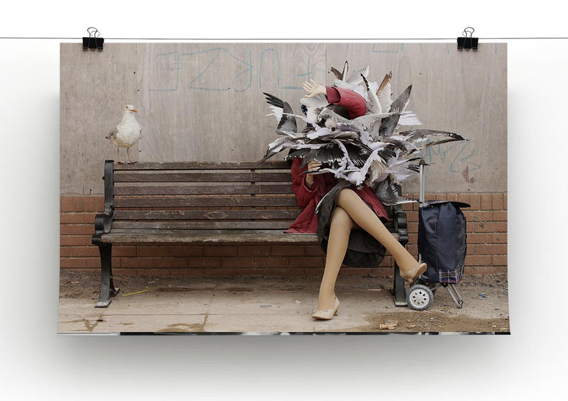 Banksy Seagulls Canvas Print & Poster - US Canvas Art Rocks