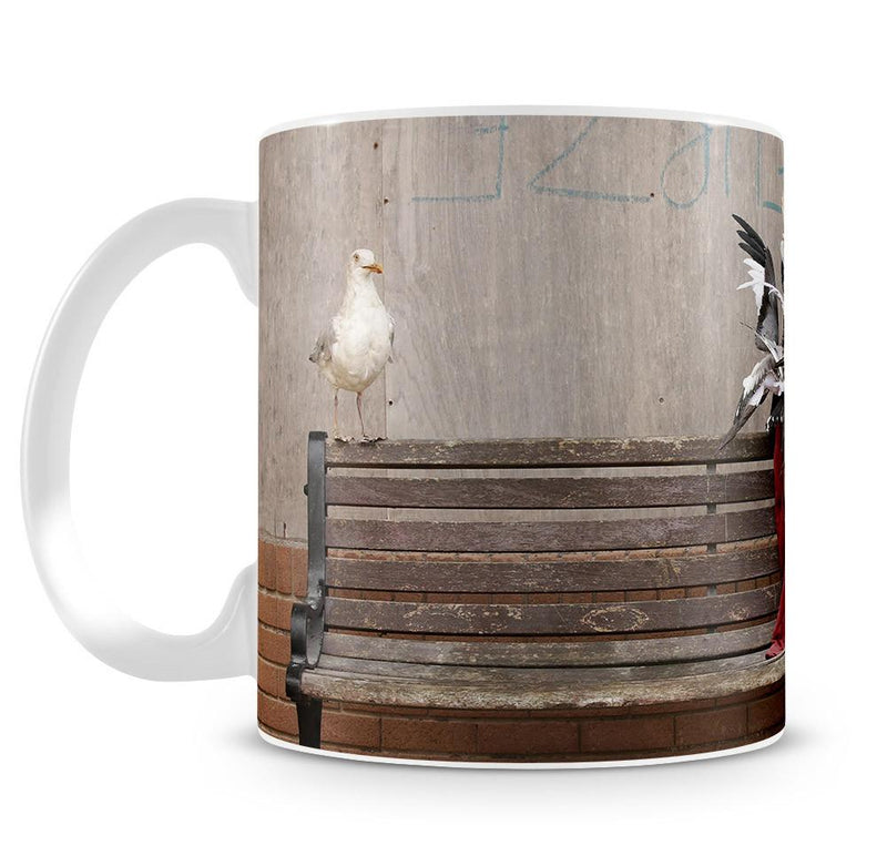 Banksy Seagulls Cup - US Canvas Art Rocks