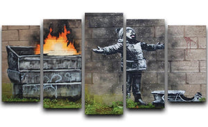 Banksy Seasons Greeting 5 Split Panel Canvas  - Canvas Art Rocks - 1