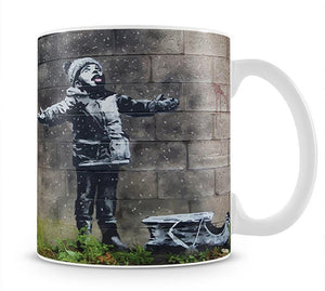 Banksy Seasons Greeting Mug - Canvas Art Rocks - 1
