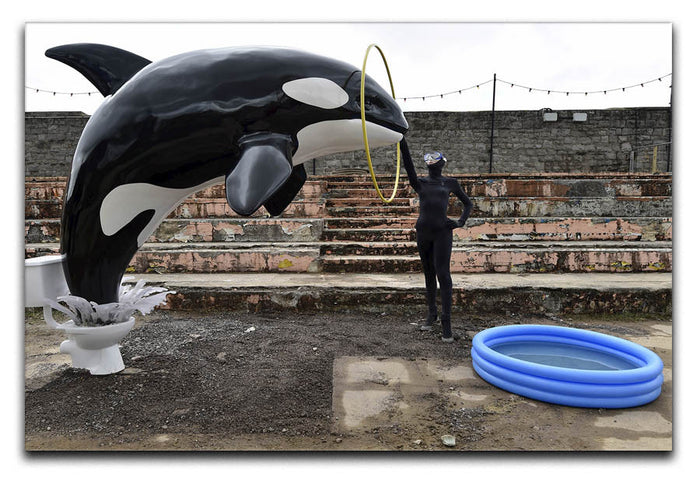 Banksy Seaworld Canvas Print or Poster