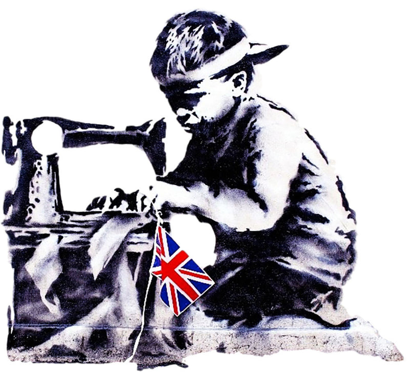 Banksy Slave Labour Wall Decal - US Canvas Art Rocks