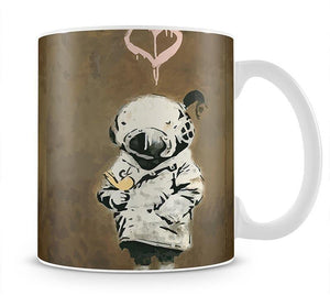 Banksy Space Girl And Bird Mug - Canvas Art Rocks - 1