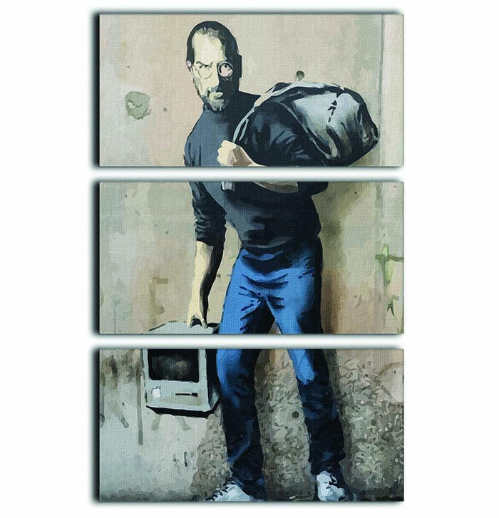 Banksy Steve Jobs 3 Split Panel Canvas Print