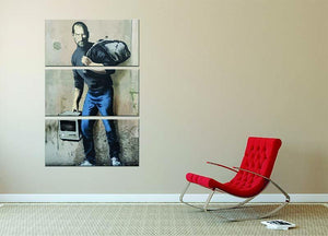 Banksy Steve Jobs 3 Split Panel Canvas Print - Canvas Art Rocks - 2