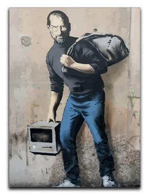 Banksy Steve Jobs Canvas Print or Poster  - Canvas Art Rocks - 1