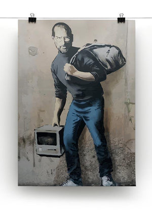 Banksy Steve Jobs Canvas Print or Poster - Canvas Art Rocks - 2