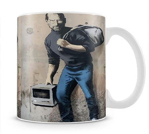 Banksy Steve Jobs Mug - Canvas Art Rocks - 4