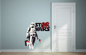 Banksy Stop Wars Wall Decal - US Canvas Art Rocks