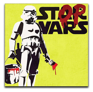 Banksy Stop Wars Star Wars Print - Canvas Art Rocks - 3
