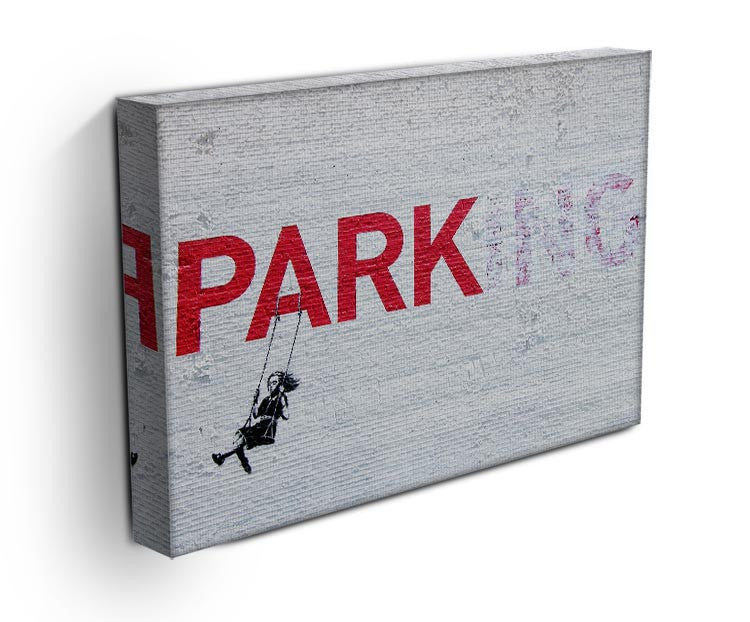 Banksy Swing Girl Print - Canvas Art Rocks - 3