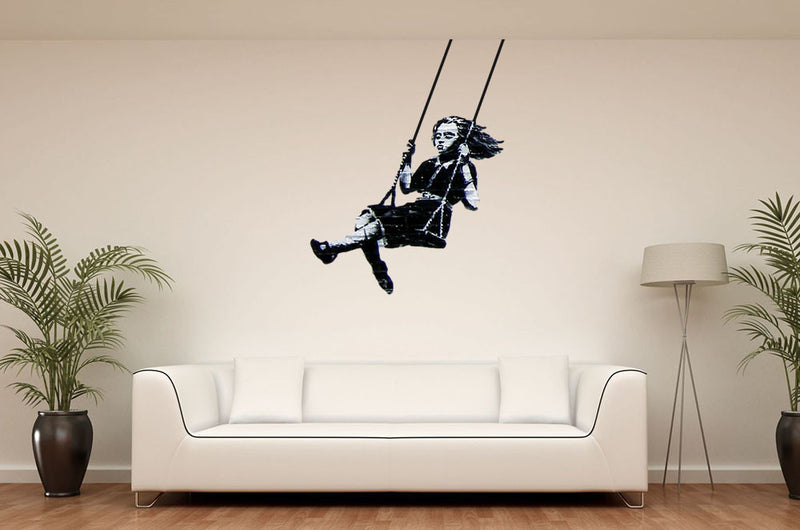 Nice Banksy Swing Girl Wall Decal