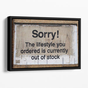 Banksy The Lifestyle You Ordered Floating Framed Canvas