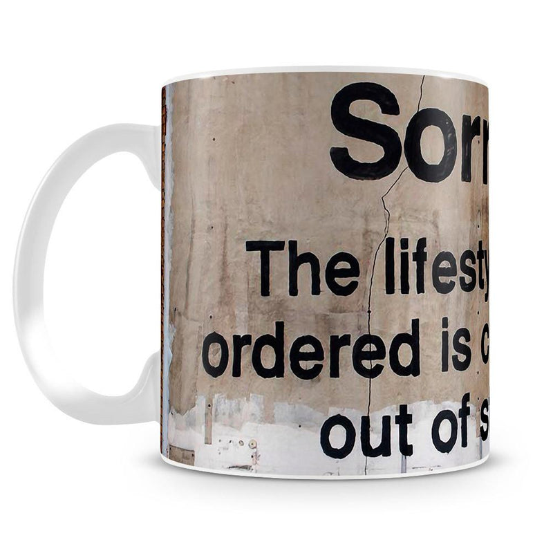 Banksy The Lifestyle You Ordered Cup - US Canvas Art Rocks