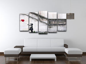 Banksy There is Always Hope 5 Split Panel Canvas - Canvas Art Rocks - 3
