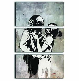 Banksy Think Tank 3 Split Panel Canvas Print - Canvas Art Rocks - 1