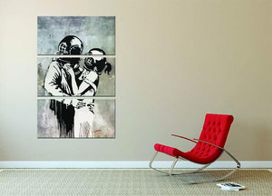Banksy Think Tank 3 Split Panel Canvas Print - Canvas Art Rocks - 2