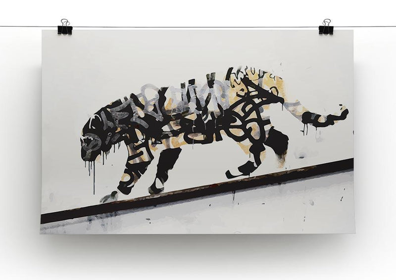 Banksy Tiger Canvas Print or Poster - Canvas Art Rocks - 2