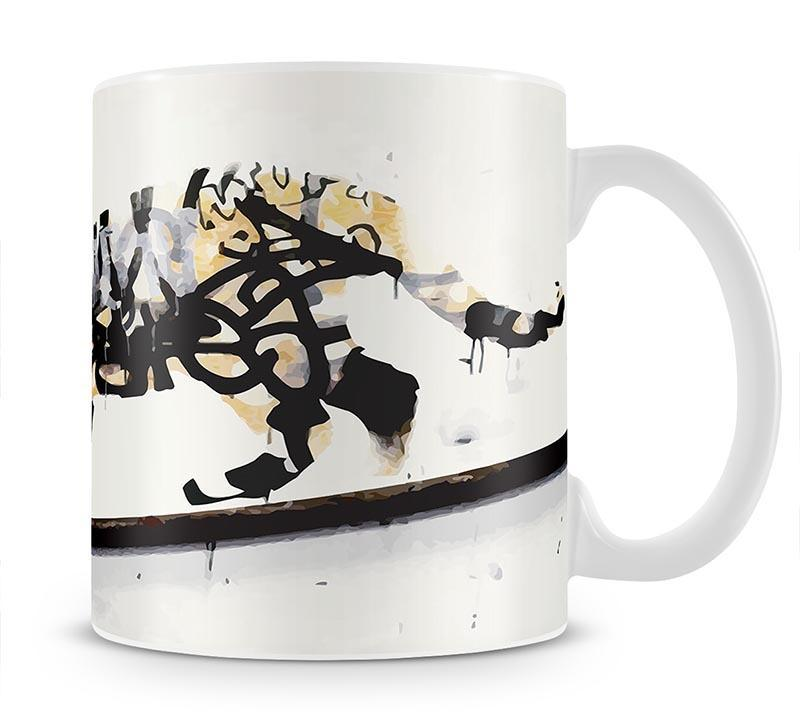 Banksy Tiger Mug - Canvas Art Rocks - 1