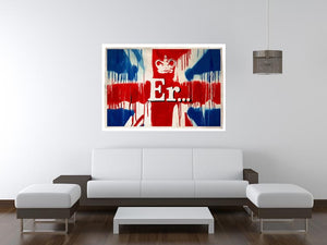 Banksy Union Jack ER Print - Canvas Art Rocks - 4