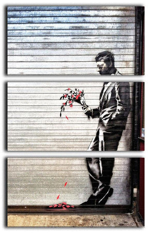 Banksy Waiting in Vain 3 Split Canvas Print - Canvas Art Rocks