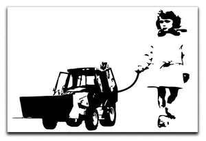 Banksy Walking The Cat Canvas Print or Poster  - Canvas Art Rocks - 1