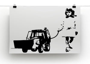 Banksy Walking The Cat Canvas Print or Poster - Canvas Art Rocks - 2