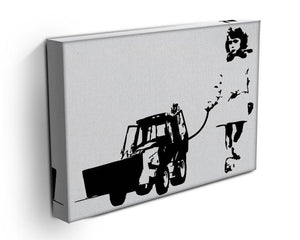 Banksy Walking The Cat Canvas Print or Poster - Canvas Art Rocks - 3