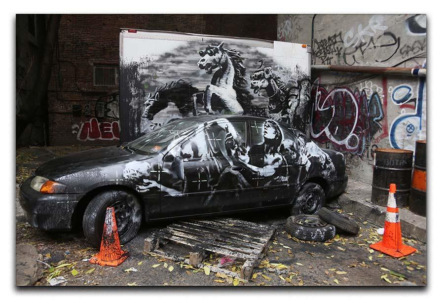 Photo Screen 24 Picture on Canvas Banksy Art Prints Wall Picture Poster n-38