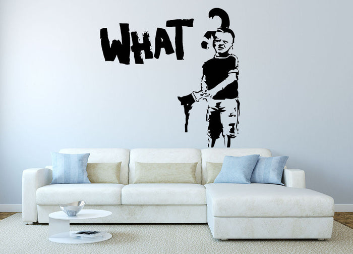 Banksy What Wall Sticker