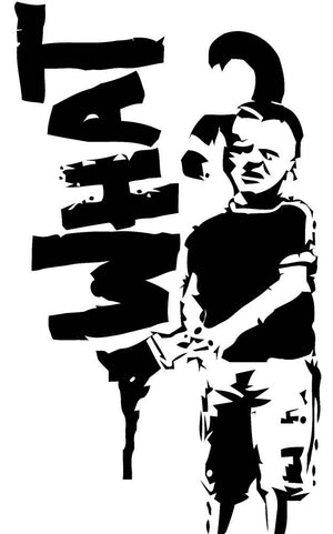 Banksy What Wall Decal - Canvas Art Rocks