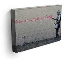 Banksy What We Do In Life Print - Canvas Art Rocks - 3