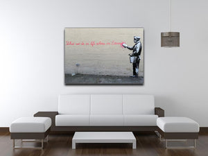 Banksy What We Do In Life Canvas Print or Poster - Canvas Art Rocks