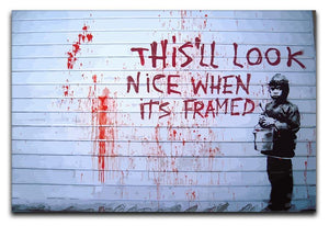 Banksy When Its Framed Canvas Print or Poster  - Canvas Art Rocks - 1