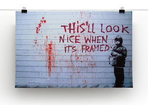 Banksy When Its Framed Canvas Print or Poster - Canvas Art Rocks - 2