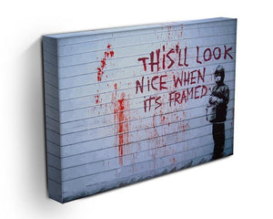Banksy When Its Framed Canvas Print or Poster - Canvas Art Rocks - 3
