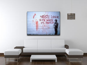 Banksy When Its Framed Canvas Print or Poster - Canvas Art Rocks - 4