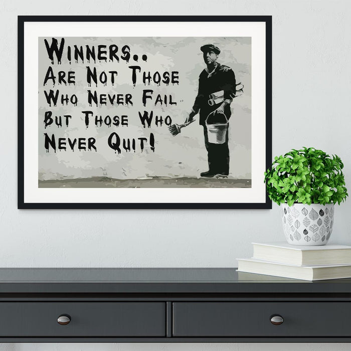 Banksy Winners Are Not Framed Print