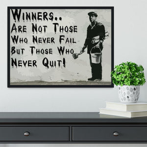 Banksy Winners Are Not Framed Print - Canvas Art Rocks - 2