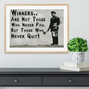 Banksy Winners Are Not Framed Print - Canvas Art Rocks - 3