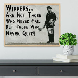 Banksy Winners Are Not Framed Print - Canvas Art Rocks - 4