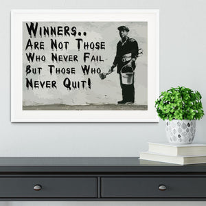 Banksy Winners Are Not Framed Print - Canvas Art Rocks - 5