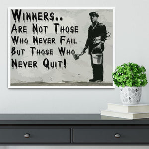Banksy Winners Are Not Framed Print - Canvas Art Rocks -6