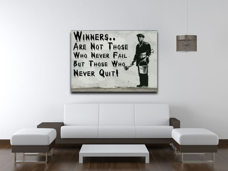 Banksy Winners Are Not Canvas Print or Poster - Canvas Art Rocks