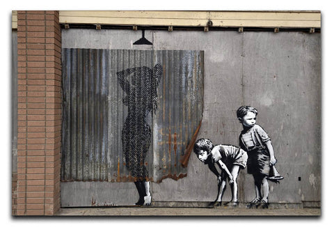 Banksy Woman In Shower Canvas Print Or Poster