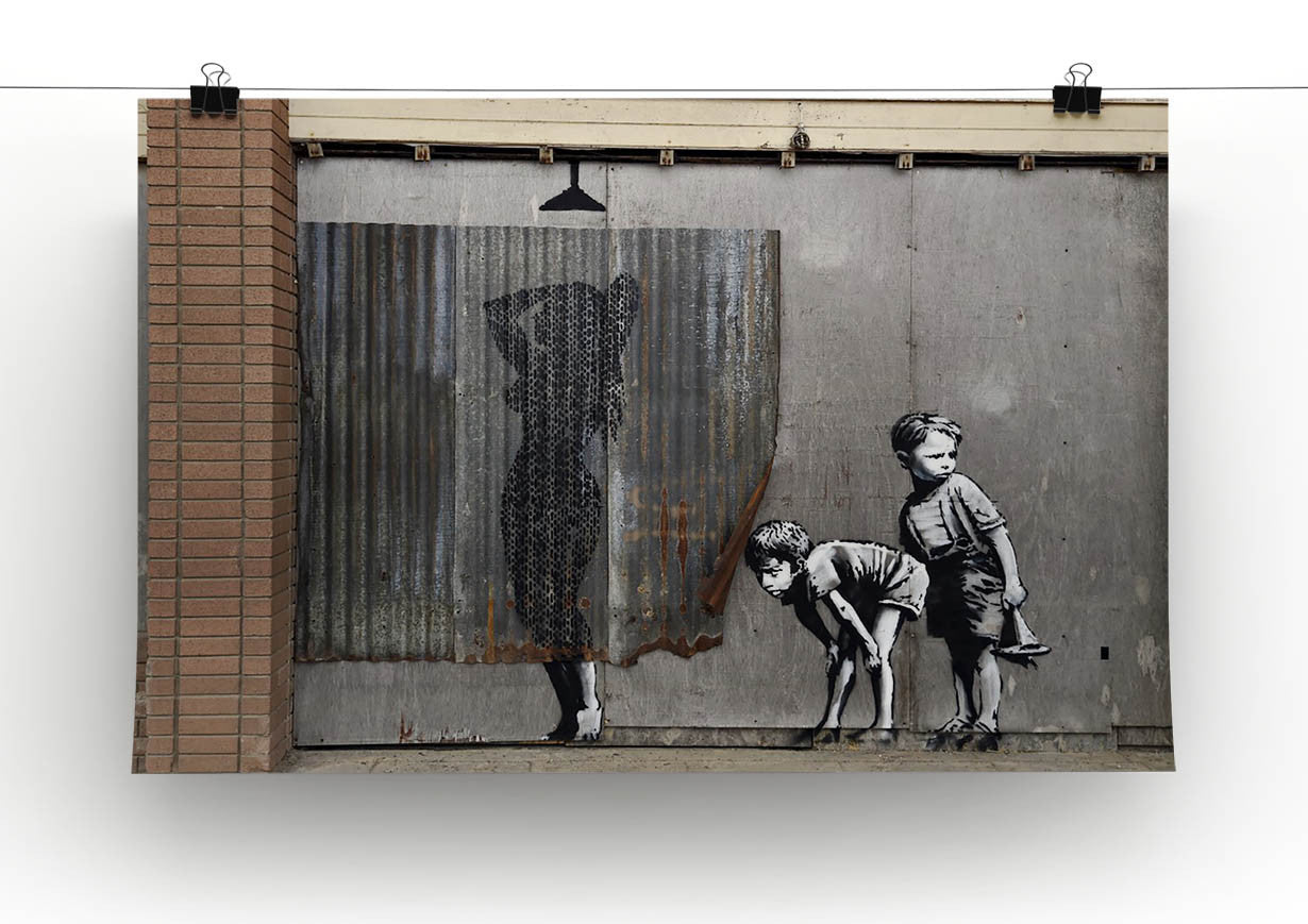 Banksy Woman In Shower Canvas Print Poster Canvas Art Rocks