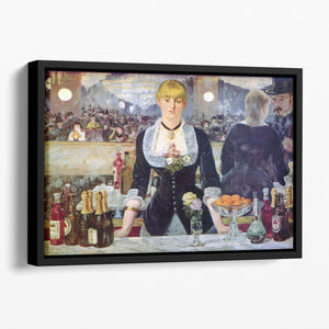 Bar in the Folies-Bergere by Manet Floating Framed Canvas