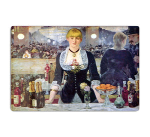 Bar in the Folies-Bergere by Manet HD Metal Print