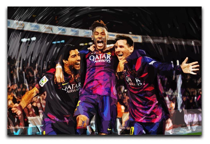 Barcelona Suarez Messi Neymar Canvas Print or Poster